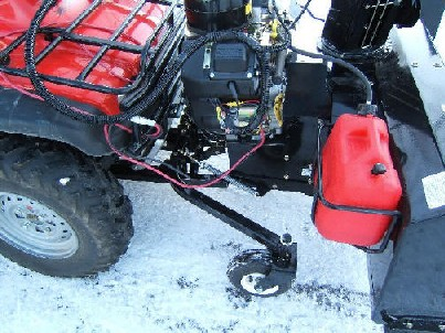 Honda Atv 4x4 Snowblower