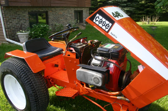 case garden tractor repower ingersoll case 446 got a new paint job looks great