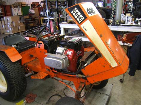 case garden tractor repower ingersoll case 446 garden tractor repowered