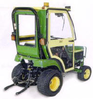 Curtis Cab for a John Deere 2210 Small Tractor
