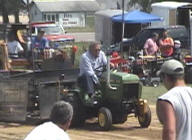 Garden Tractor pull - John Deere 332 powered by a 20 HP Yanmar diesel engine