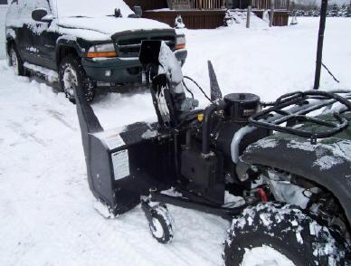ATV Snowblower Pictures