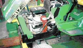 repower with a 20 hp briggs and stratton engine  this john deere