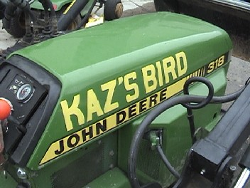 John Deere 318 garden tractor - The Bird