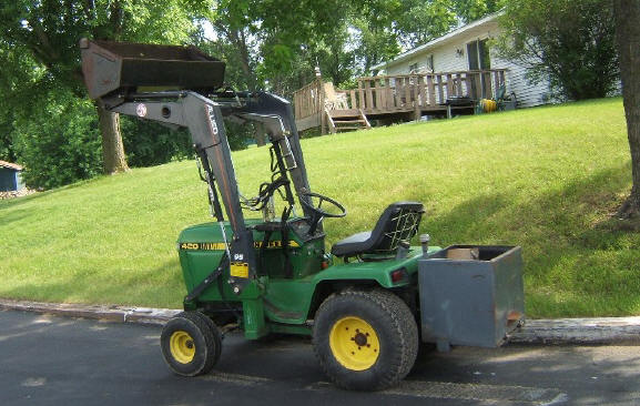 john deere 420 garden tractor and front end loader - Garden Tractor Front End Loader Kits