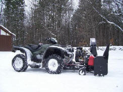 ATV Snowblower - on a Honda