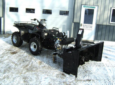 versatile model UTV ATV snow blower with extension and 35 hp