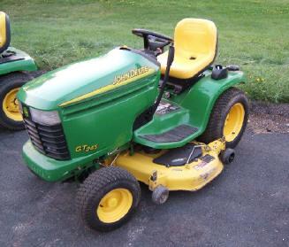 Gt 245 John Deere Garden Tractor With A 48 Inch Mower Deck